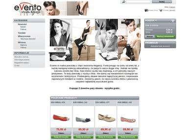 Evento shop - on-line shoe store