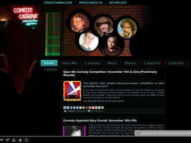 Comedy Cabana website