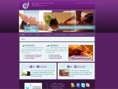Website for Esssece-Massage Therapy