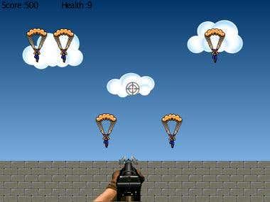 Anti-Parachute Flash game