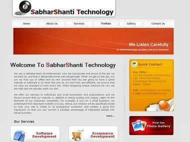 Website Of SabharShanti Technology