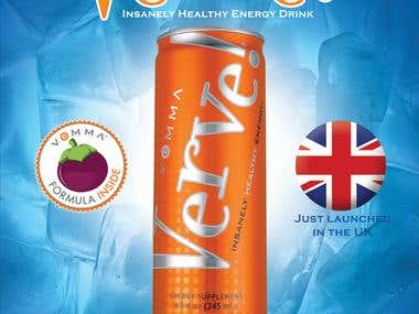 Verve Power Drink Poster ( UK )