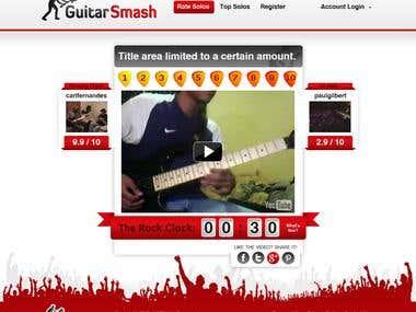 Guitar Smash PSD