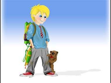 Sam Fish and his sidekick Teddy