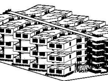 Perspective of a residential building