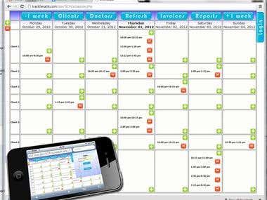 Proprietary web-based scheduler.