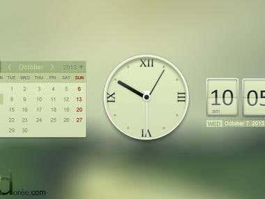 Clock and calendar widgets