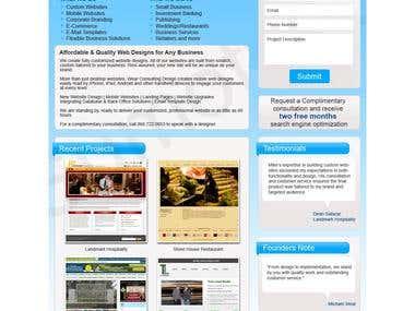 Design Likez Landing Pages Samples