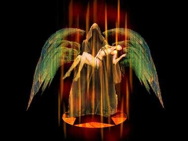 Falling Angel, imagen de photoshop