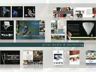 Various ads and promotional material