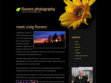 Web Design: Flowers Photography