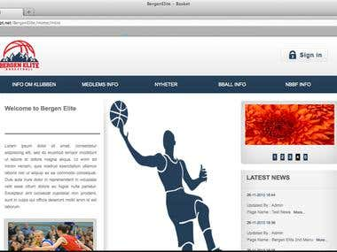Bergen Elite CMS Website