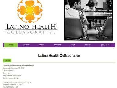 Web Design: Latino Health Care Collaborative
