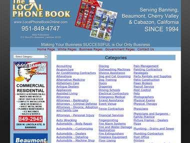 Web Deisng: The Local Phone Book