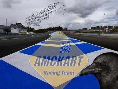banner for motorcycle circuit