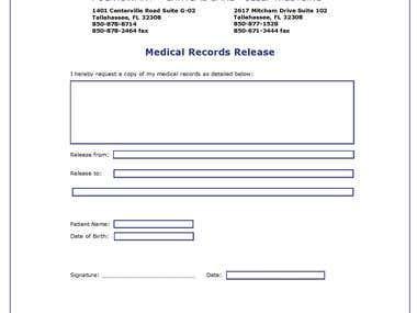 TPC medical Record form