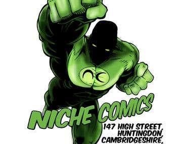 NICHE COMICS LOGO DESIGNS....
