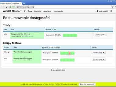 WebQA Monitor - uptime monitoring service