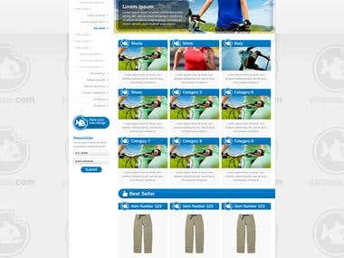 Pirazzo Sport Wear Mockup Design