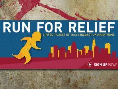 Banner Design - Run For Relief