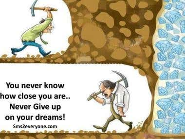 I WILL TRY TRY TRY UNTIL ACHIEVE THE GOAL