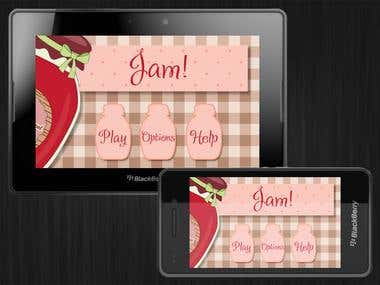 Jam! - casual game for BlackBerry Playbook and BB10