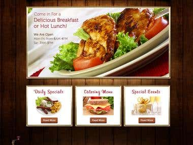 Web design for the US B&L restaurant