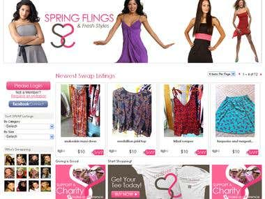 Clothing Swapping eCommerce Portal: CakePHP