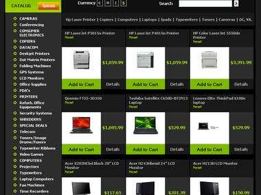 Office Equipment Selling Web Store: OpenCart