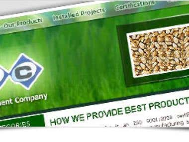 radiant-agro.com Static Website Design & Development