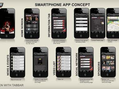 Cage contender iPhone / Android app / phonegap app
