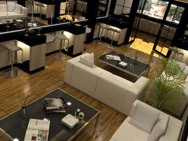3D Luxurious Lounge Design