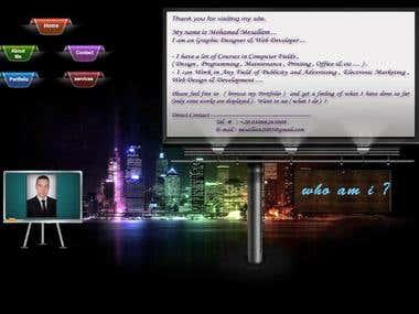 personal flash website