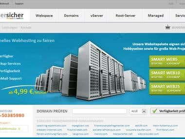 Hosting-Anbieter Design und Programmierung