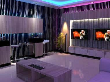 karaoke room interior design