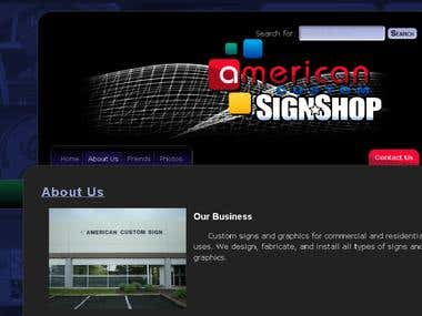 Website for American Custom Sign Shop