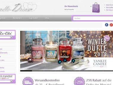 Online-Shop für Kerzen