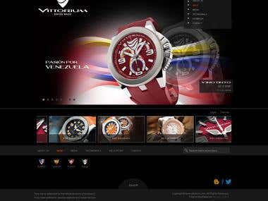 Luxury watch ecommerce website