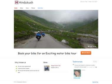 Bike Rental and tours website
