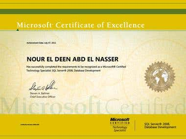 SQL Server 2008 Database Developer