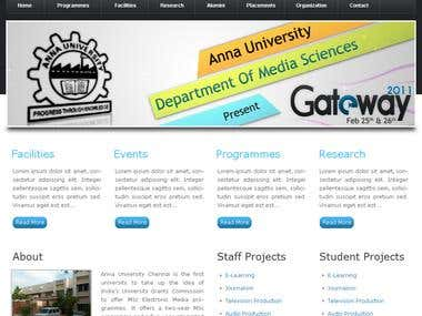 Website for College of Engineering, Anna University