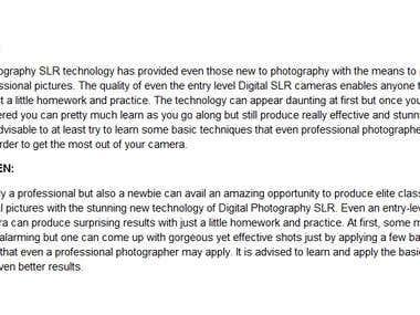 Digital Camera SLR