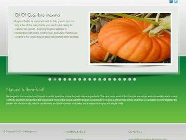 Herboganic (Wordpress Project)