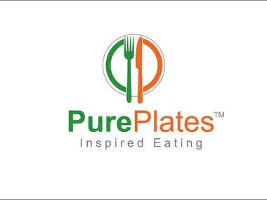 "Logo Design for ""Pure Plates"""