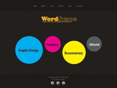 Web template of WordScape