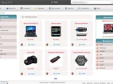 online Auction Web POrtal