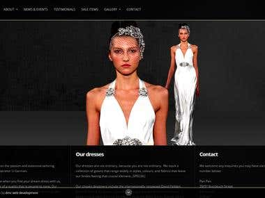 Responsive version of panpanbridal.co.uk