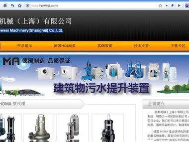 company website translating