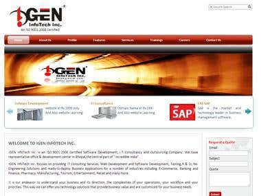 Website Of a IT  firm.