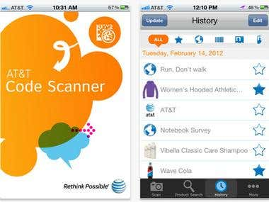 AT&T Code Scanner (iOS, iPhone)